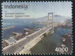 Indonésie 2017 - Pont Jembatan Soekamo - Oblitéré - Indonésie