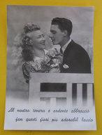 Coppia Innamorati  Frase D'amore Cartolina  Vera Fotografia - Couples