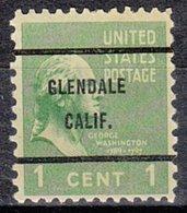 USA Precancel Vorausentwertung Preo, Bureau California, Glendale 804-61 - Préoblitérés