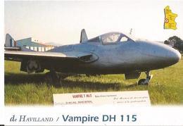 CP AVION DE HAVILLAND VAMPIRE DH 115 ENTRAINEMENT 1946 - 1946-....: Moderne