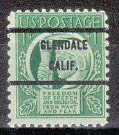 USA Precancel Vorausentwertung Preo, Bureau California, Glendale 908-71 - Préoblitérés