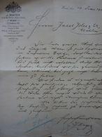 "Lettera Commerciale ""J. MAYER WIEN"" 13 Febbraio 1901 - Austria"