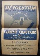 Clichy 1947 Imprimé Pour Nantes Avec Prospectus Adhésif Chautard (Maurice Mary), Bel Affranchissement - Poststempel (Briefe)