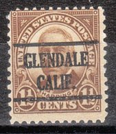 USA Precancel Vorausentwertung Preo, Locals California, Glendale 684-225 - Préoblitérés