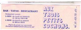 Carte De Visite Toulouse Les 3 Petits Cochons (disparu Quartier Demoli) - Cartoncini Da Visita