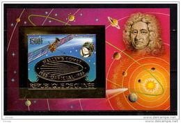 GUINEA 1986 SPACE GOLD MNH MI. BL. 219 IMPERF. - Space