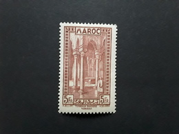 MAROC 1933, Yvert No 147, 5 F Brun Rouge   Tombeaux Saadiens  Marrakech, Neuf * MH , TB - Maroc (1891-1956)