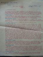 """Lettera Commerciale """"STUDIO CECCHI COSTA DELL'INCROCIATA, 2 - SIENA"""" Siena 7 Giugno 1936 - Italia"""