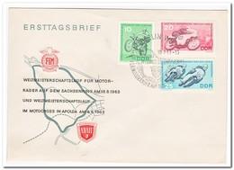 DDR 1963, FDC, World Championship Runs In Motocross - FDC: Enveloppes