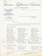 Lettre 1942 AMBRESIN-WASSEIGES-SUCRERIE & RAFFINERIE D'EMBRESIN:liste Des Cultivateurs De Betteraves De Thisnes & Wansin - Belgique