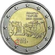 Malta  2016     2 Euro Commemo   Met MMT HOORN Uit De Coincard Tempels Van Ggantija - Ggantija  !!! UNC - Malte