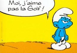 SCHTROUMPFS : Carte Publicite GOLF - Schtroumpfs, Les