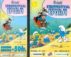 SCHTROUMPFS : Flyer + Programme Salon KOKSIJDE 1998 - Schtroumpfs, Les