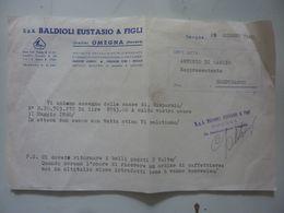 """Lettera Commerciale """"S.p.A. BALDIOLI EUSTASIO & FIGLI OMEGNA"""" 28 Giugno 1960 - Italia"""