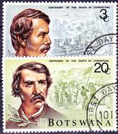 Botswana - 100. Todestag Von David Livingstone (Mi.Nr.: 100/1) 1973 - Gest Used Obl - Botswana (1966-...)