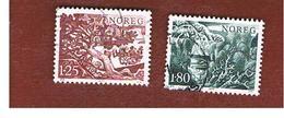 NORVEGIA  (NORWAY)    SG 798.799   -   1977  LOCAL TREES    -   USED ° - Norvegia