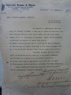"""Lettera Commerciale """"INNOCENTI RENATO & NIPOTE Decoratori, Verniciatori,ecc. VIAREGGIO"""" Viareggio 9 Febbraio 1937 - Italia"""