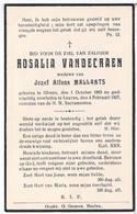 Dp. Vandecraen Rosalia. Wed. Mallants Jozef. ° Olmen 1883 † Leuven 1937 - Religion & Esotericism
