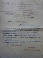 """Lettera Commerciale """"Soc. An. Coop. Di Consumo Fra I Ferrovieri Di Firenze""""  21 Maggio 1921 - Italie"""