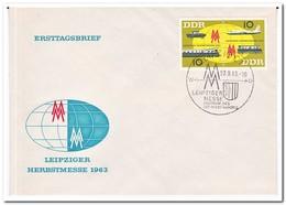 DDR 1963, FDC, Leipzig Autumn Fair - FDC: Enveloppes