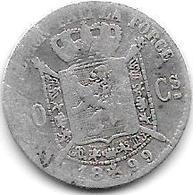 *belguim 50 Centimes  Leopold  II  1899 French  Fr+ - 1865-1909: Leopold II