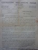 """Lettera Commerciale """"COSTRUZIONI MECCANICHE NAMAR  DI NAVONE & KORNER PADOVA"""" Padova 24 Marzo 1945 - Italie"""