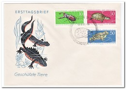 DDR 1963, FDC, Animals - FDC: Enveloppes