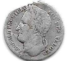 *belguim  Leopold  I 1/4 FRANC   1835 French  Fr+ - 06. 1/4 Franc