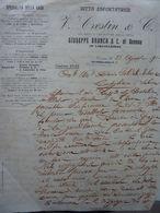 """Lettera Commerciale """"DITTA ESPORTATRICE V. CRESTIN & C. TORINO"""" Torino 23 Agosto 1910 - Italie"""