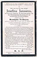 Dp. Janssens Josefina. Echtg. Verheyen Remigius. ° Olmen 1853 † Olmen 1914 - Religion & Esotericism