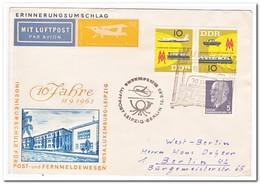 DDR 1963, Erinnerungsumschlag, Flightletter Leipzig-Berlin - [6] Oost-Duitsland
