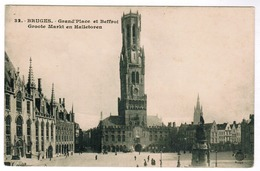 Brugge, Bruges, Grote Markt En Halletoren (pk55036) - Brugge