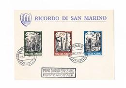 San Marino - FDC - Ricordo Di San Marino - 1961 - FDC