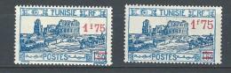 "Tunisie YT 184 & 184ab "" Amphithéâtre, 2 Types Surcharge "" 1937-38 Neuf* - Tunisia (1888-1955)"