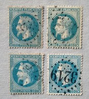 4 NAPOLÉON N° 29 AVEC VARIÉTÉS - 1863-1870 Napoléon III Lauré