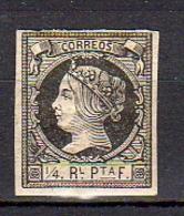 Spanish West Indies 1862 ¼ Plata MH (268) - Spanien