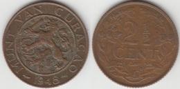 Curacao 2½ Cents 1948 (Plak) KM#42 -used - Curacao