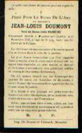 Souvenir Mortuaire DOUMONT Jean (1829-1903) Mort à MOUSTIER-SUR-SAMBRE - Images Religieuses