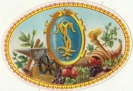 1893-1894  étiquette Boite à Cigare Havane Enclume Marteau Torche Corne D'abondance - Etiquettes