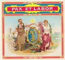 1893-1894  étiquette Boite à Cigare Havane Tinchant Anvers Forgeron Forge Enclume - Etiquettes
