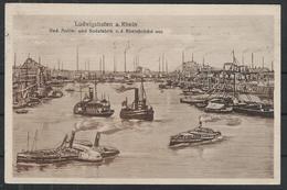 Ludwigshafen, BASF, Feldpost 1918, Schiffe, Rhein - Nach Milbertshofen - Alte Sw Karte - Ludwigshafen