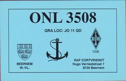 QSL Card Amateur Radio Beernem 1998 West-Vlaanderen Wapen Heraldiek Heraldry - Radio Amateur