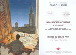 SCHUITEN : Carte Inauguration Salon ANGOULEME 2003 - Postcards