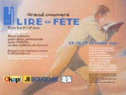 SCHUITEN : Flyer LIRE EN FETE 1999 - Books, Magazines, Comics