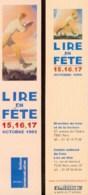 SCHUITEN : Marque Page LIRE EN FETE 1999 - Bookmarks