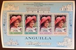 Anguilla 1980 Queen Mother Minisheet MNH - Anguilla (1968-...)