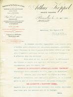 Lettre 1909 BRUXELLES - ARTHUR KOPPEL - Chemins De Fer Portatifs Et Fixes, électriques à Voie étroite, Transporteurs ... - Belgique