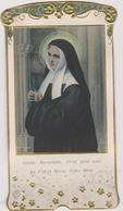 Image Religieuse Avec Relief Sainte Bernadette Priez Pour Nous La Vierge Marie  Notre Mere - Imágenes Religiosas