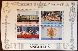 Anguilla 1978 Coronation Anniversary Minisheet MNH - Anguilla (1968-...)