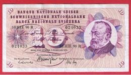 Suisse - 10 Francs 7/2/1974  -  Pick # 45 -  état  TB+ - Suiza
